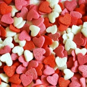Посыпка Сердечки красно-бело-розовые 250 гр 16014