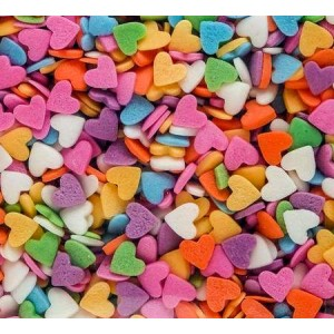 Посыпка Сердечки разноцветные 250 гр 16083