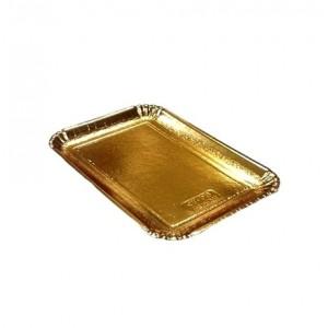 Декоративный поднос цвет золото 210*140 мм 65185