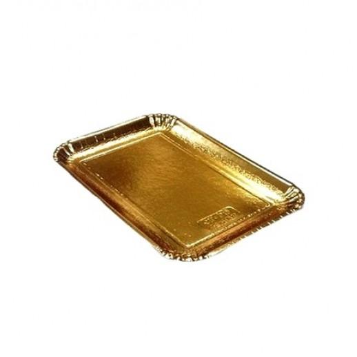 Декоративный поднос цвет золото 210*140 мм 65185, Подложки и подносы для тортов