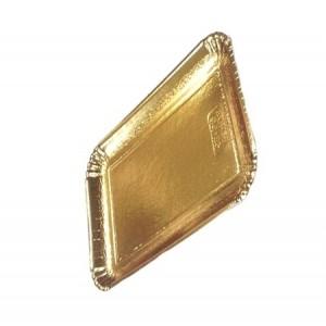 Декоративный поднос цвет золото 240*170 мм 65186