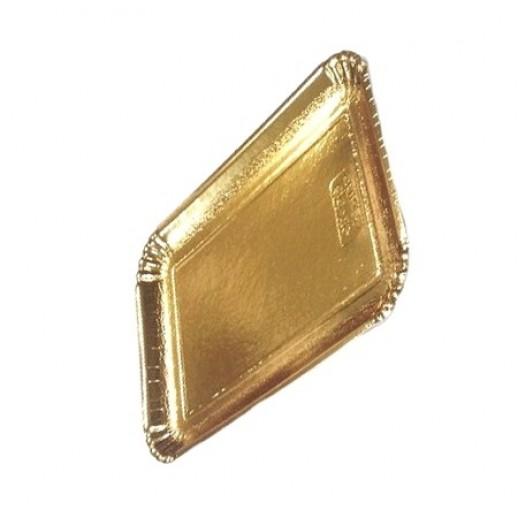 Декоративный поднос цвет золото 240*170 мм 65186, Подложки и подносы для тортов