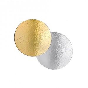 Подложка картон. круг №20 золото/серебро 64152