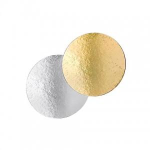 Подложка картон. круг №24 золото/серебро 64154