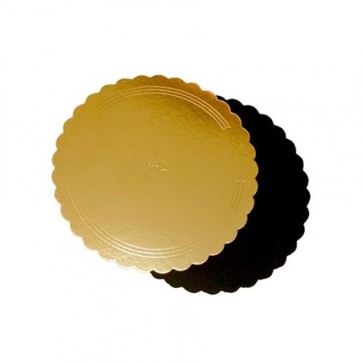 Подложка усилен золото/черн ажур 150*300 мм 65200, Подложки и подносы для тортов