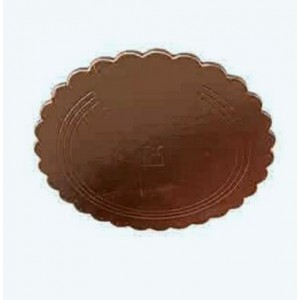 Подложка усилен золото/кофе ажур 260 мм (толщ 3,2)