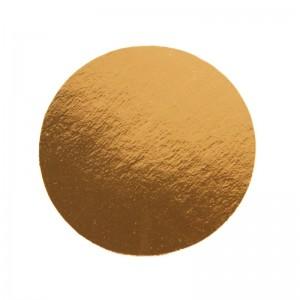 Подложка золото/картон круг №24 0,8 мм