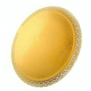 Поднос кругл. золото ЛЕОНАРДО 38 см 65136