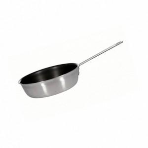 Сковорода ИНДУКЦИЯ нерж тройное дно 200*65 тефлон 605