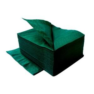 ЛАЙМ Салфетки 24*24 1-сл 400 шт темно-зеленые 10/уп 410600