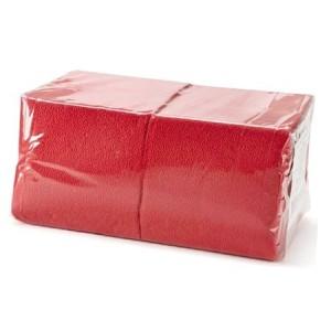Салфетки бумажные ОРП 24*24 400 л, красные (15/1)