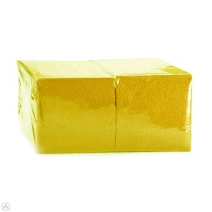 Салфетки бумажные ОРП 24*24 400 л, Желтые (15/1)