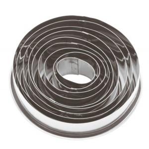 Форма-резак ОВАЛ 3,2*4,2-8*10,5 см 8 шт нерж 81004706