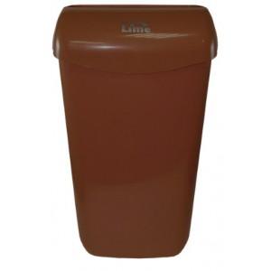 Корзина для мусора 11 л подвесная с держателем мешка коричневая LIME 974115