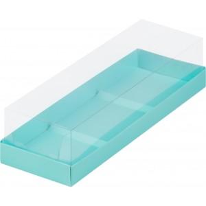 Упаковка для пирожных пластик крышка 260*85*60 тиффани 070523