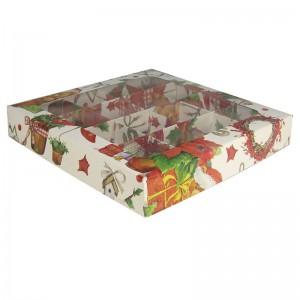 Упаковка для конфет XMAS 16 ячеек 190*190*30 мм 050591