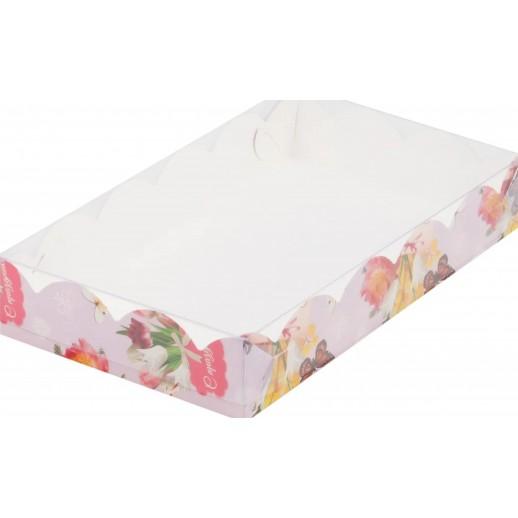 Упаковка для печенья и пряников С Праздником 250*150*35 мм 080439, Тортницы, коробки для торта и пирожных