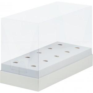 Упаковка под кейк-попсы белая с пластиковой крышкой 240*110*160 мм 60900