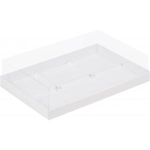 Упаковка для пирожных пластик крышка 260*170*60 белая 070500